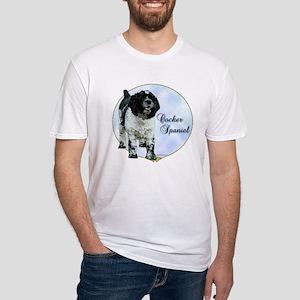 Cocker(parti) Portrait Fitted T-Shirt