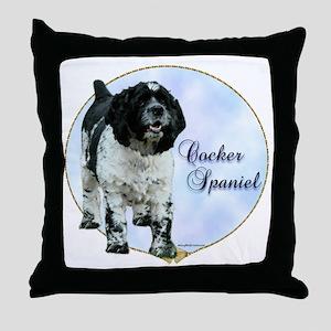 Cocker(parti) Portrait Throw Pillow