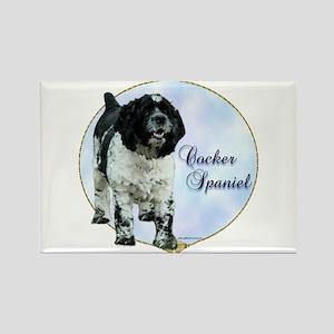 Cocker(parti) Portrait Rectangle Magnet