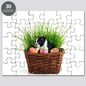 Easter Boston Terrier Dog Puzzle