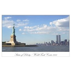 World Trade Center / Statue of Liberty : print Poster