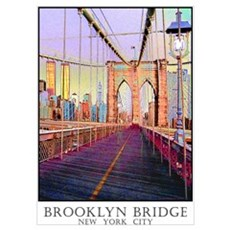 Brooklyn Bridge Twin Towers Wall Art Poster