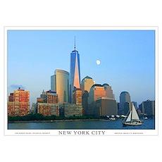 New York City Skyline Wall Art Poster