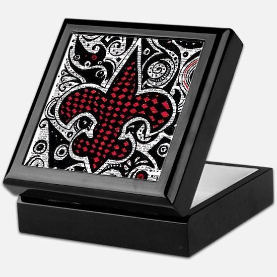 black and red pillow (3) Keepsake Box