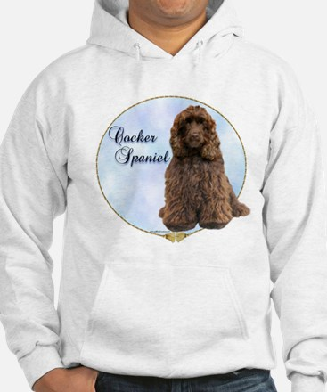 Cocker(brown) Portrait Hoodie