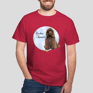 Cocker(brown) Portrait Dark T-Shirt