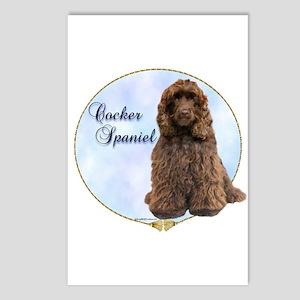 Cocker(brown) Portrait Postcards (Package of 8)