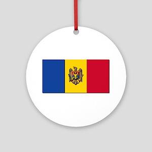 Flag of Moldova NO Txt Ornament (Round)