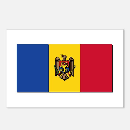 Flag of Moldova NO Txt Postcards (Package of 8)