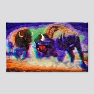 Rainbow Bison 3'x5' Area Rug