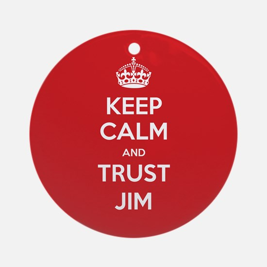 Trust Jim Ornament (Round)