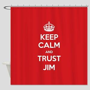 Trust Jim Shower Curtain
