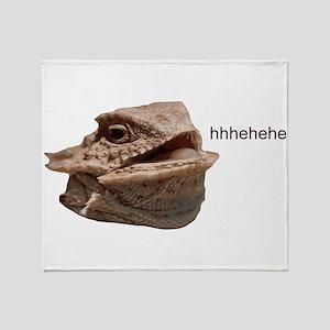 Laughing Iguana HeHe Lizard Throw Blanket