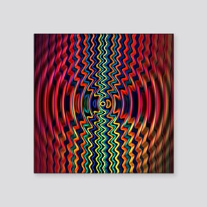 """Ripples in Time Square Sticker 3"""" x 3"""""""