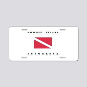 Komodo Island Indonesia Dive Aluminum License Plat