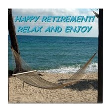Happy Beach Retirement Tile Coaster