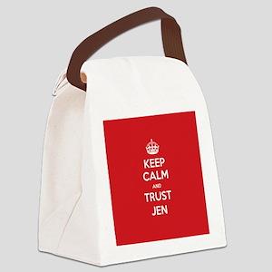 Trust Jen Canvas Lunch Bag