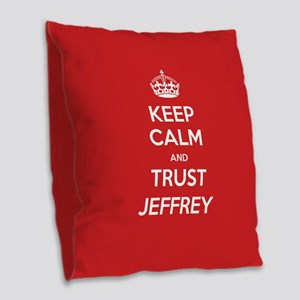 Trust Jeffrey Burlap Throw Pillow