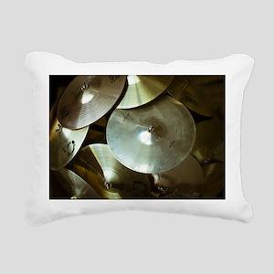 Cymbals Rectangular Canvas Pillow