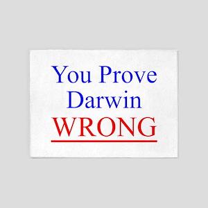Twisted Imp Prove Darwin Wrong 5'x7'Area Rug