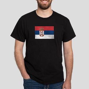 Serbian Flag Dark T-Shirt