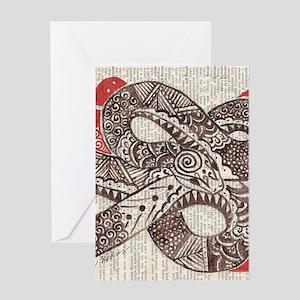 Goddess Snake Greeting Cards