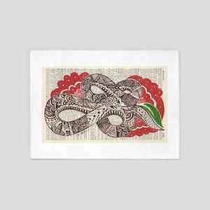 Goddess Snake 5'x7'Area Rug