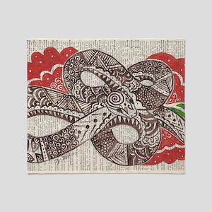 Goddess Snake Throw Blanket