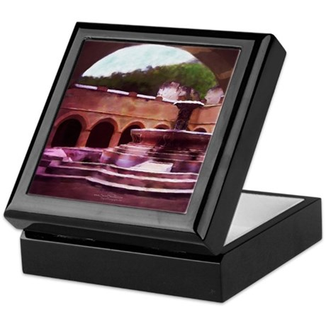 """Fountain in the Courtyard"" Keepsake Box"