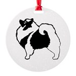 Keeshond Graphics Round Ornament