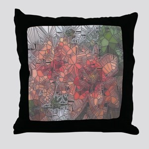 flowers such as stained glass2 Throw Pillow