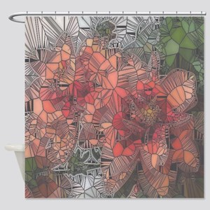 flowers such as stained glass2 Shower Curtain