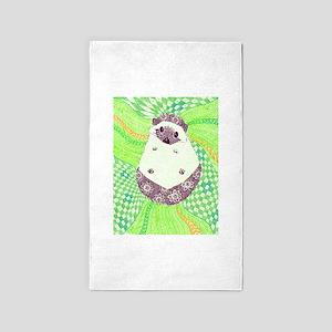 Psychedelic Hedgehog 3'x5' Area Rug