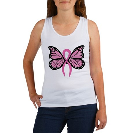 Breast Cancer Butterfly Tank Top