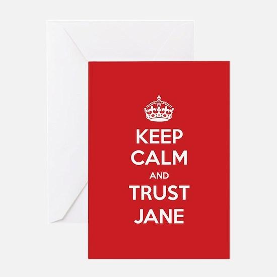 Trust Jane Greeting Cards