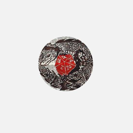Here Be Dragons Mini Button
