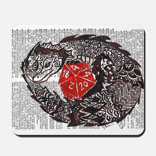Here Be Dragons Mousepad