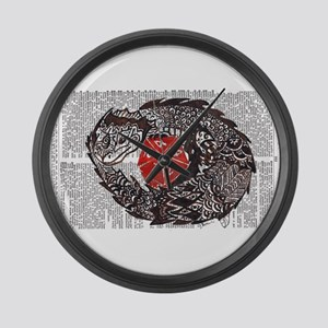 Here Be Dragons Large Wall Clock