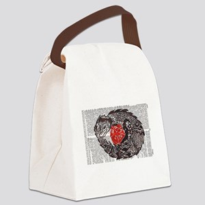 Here Be Dragons Canvas Lunch Bag