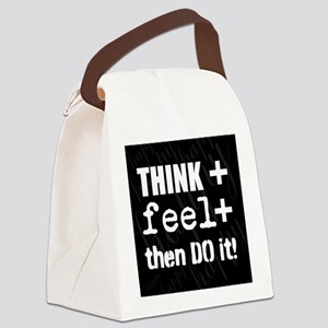 Positive Thinking Saying Canvas Lunch Bag