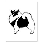 Keeshond Graphics Small Poster