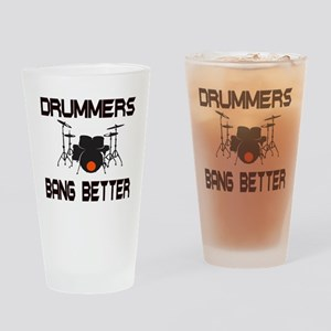 Drummers Bang Drinking Glass