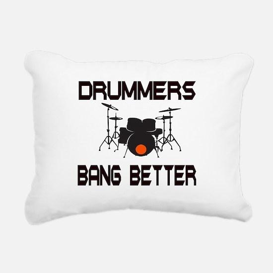 Drummers Bang Rectangular Canvas Pillow