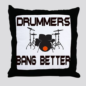 Drummers Bang Throw Pillow