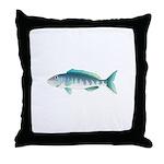 Green Jobfish Grey Snapper Uku Throw Pillow
