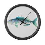 Green Jobfish Grey Snapper Uku Large Wall Clock