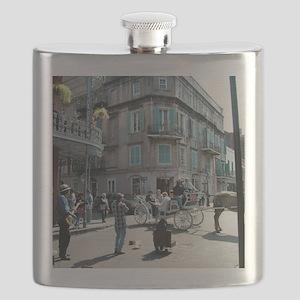 New Orleans street Musician Flask