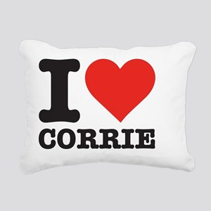 I love Corrie Rectangular Canvas Pillow