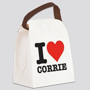 I love Corrie Canvas Lunch Bag