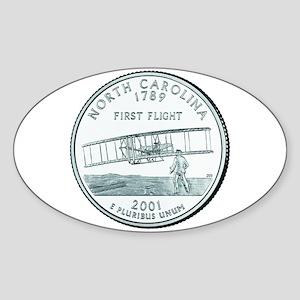 North Carolina State Quarter Oval Sticker